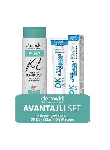 Dermokil Dermokil Zeytinyağlı Şampuan ve Klasik Diş Macunu 2'li SET Renksiz